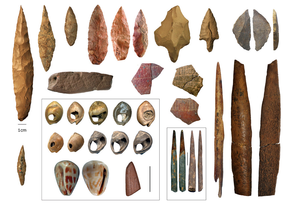 Middle Stone Age cultural artefacts from northern and southern Africa.