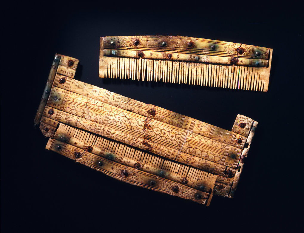 Grave goods: comb with case.