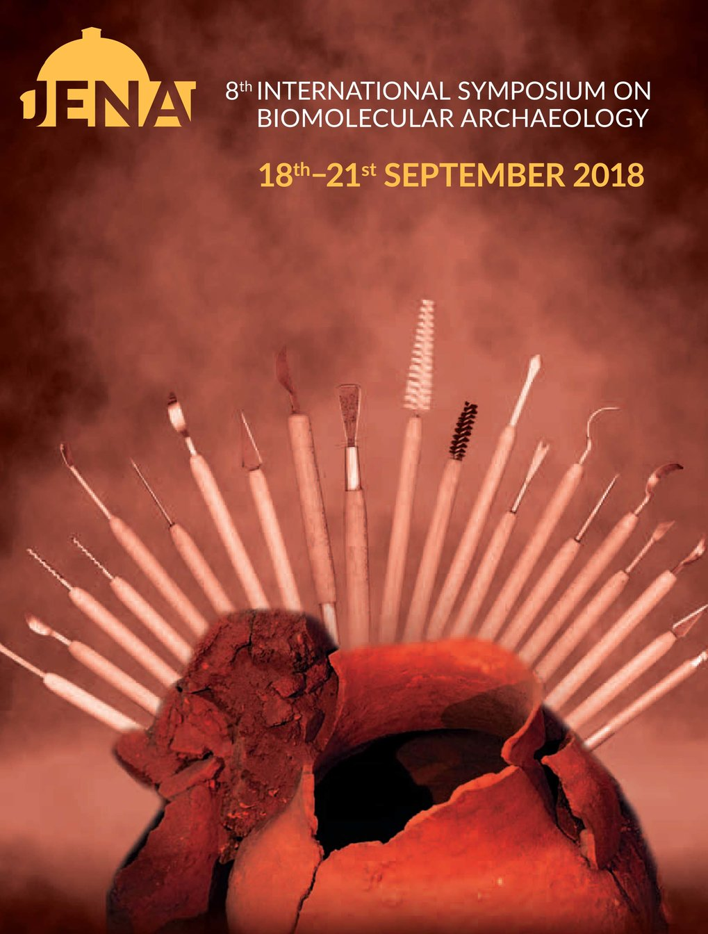 The 8th International Symposium on Biomolecular Archaeology (ISBA) will take place from 18–21 September 2018 at Friedrich-Schiller-University Jena, Germany. It is organized by members of the Department of Archaeogenetics of the Max Planck Institute for the Science of Human History.