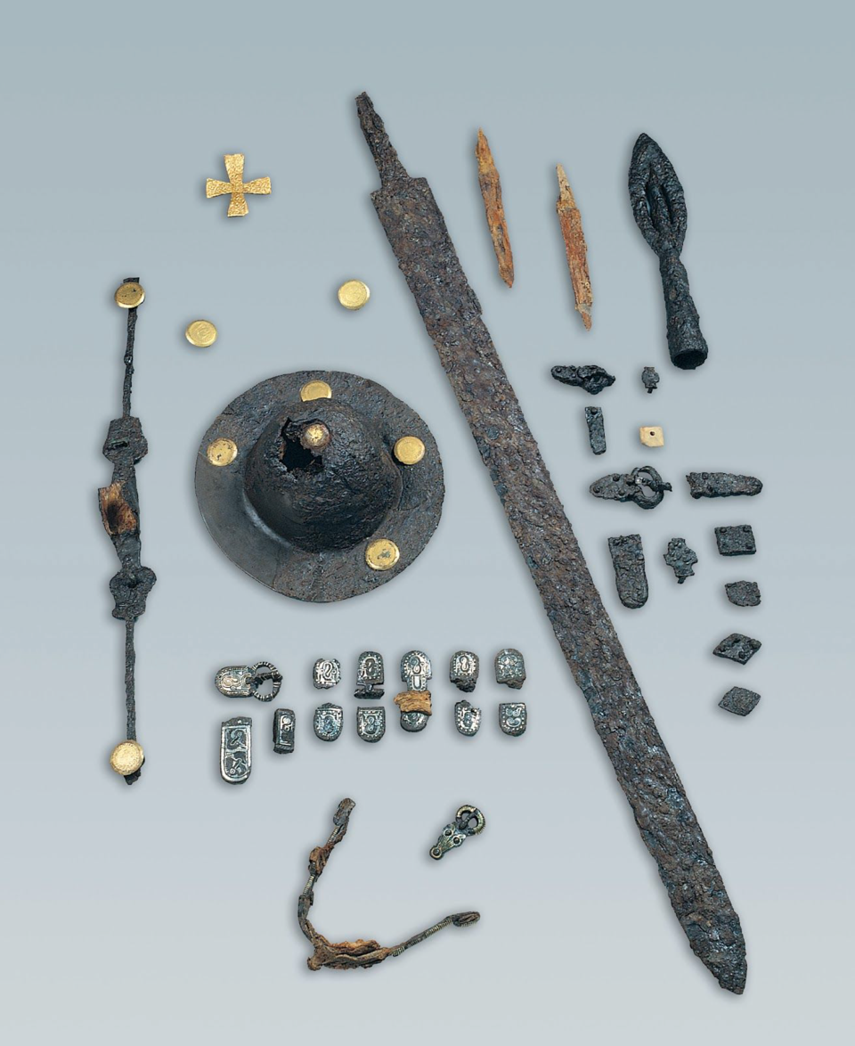 Elaborate grave goods from one of the graves associated with potential northern invaders.