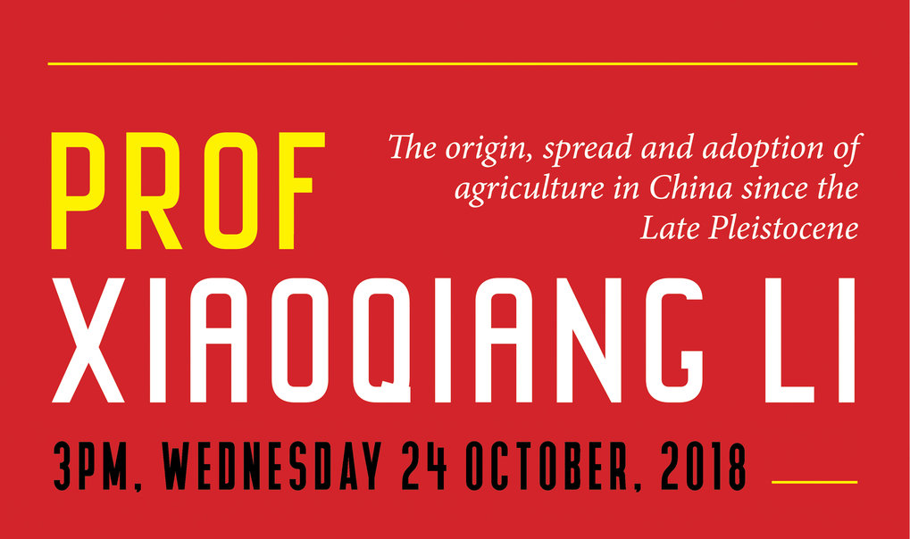 "Distinguished Lecture von Prof. Xiaoqiang Li: ""The origin, spread and adoption of agriculture in China since the Late Pleistocene"""
