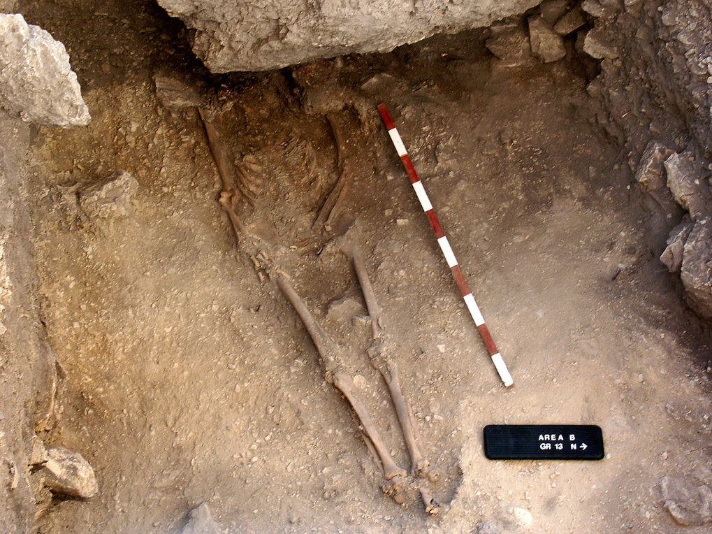 The burial of a 15,000 year old Anatolian hunter-gatherer.