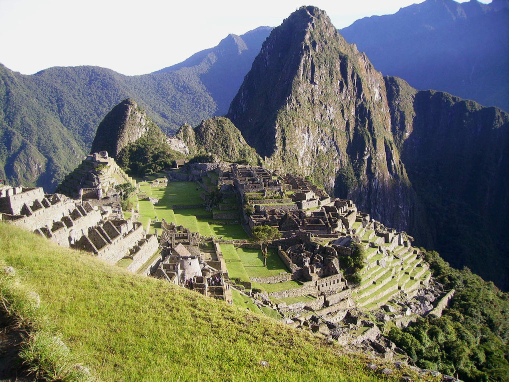 The archaeological site of Machu Picchu, in the Southern Andes of Peru, dating to the Inca Empire in the 1400s.