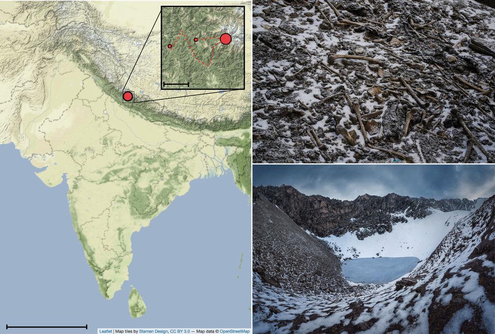 Himalaya Berge Karte.Biomolekulare Analysen Zeigen Einige Der Mysteriosen