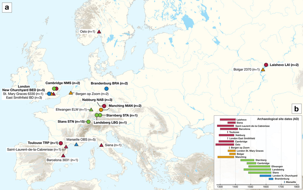 Toulouse Karte.Second Plague Pandemic Max Planck Institut Fur