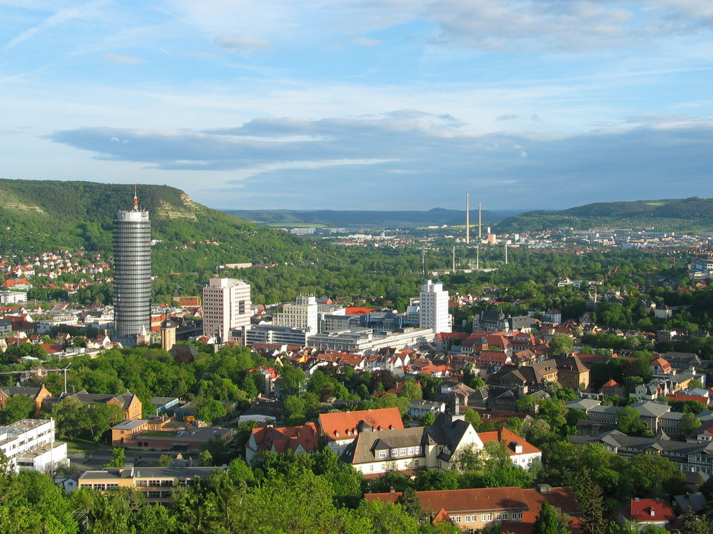 "The city of Jena - View from ""Landgrafen"" southbound"