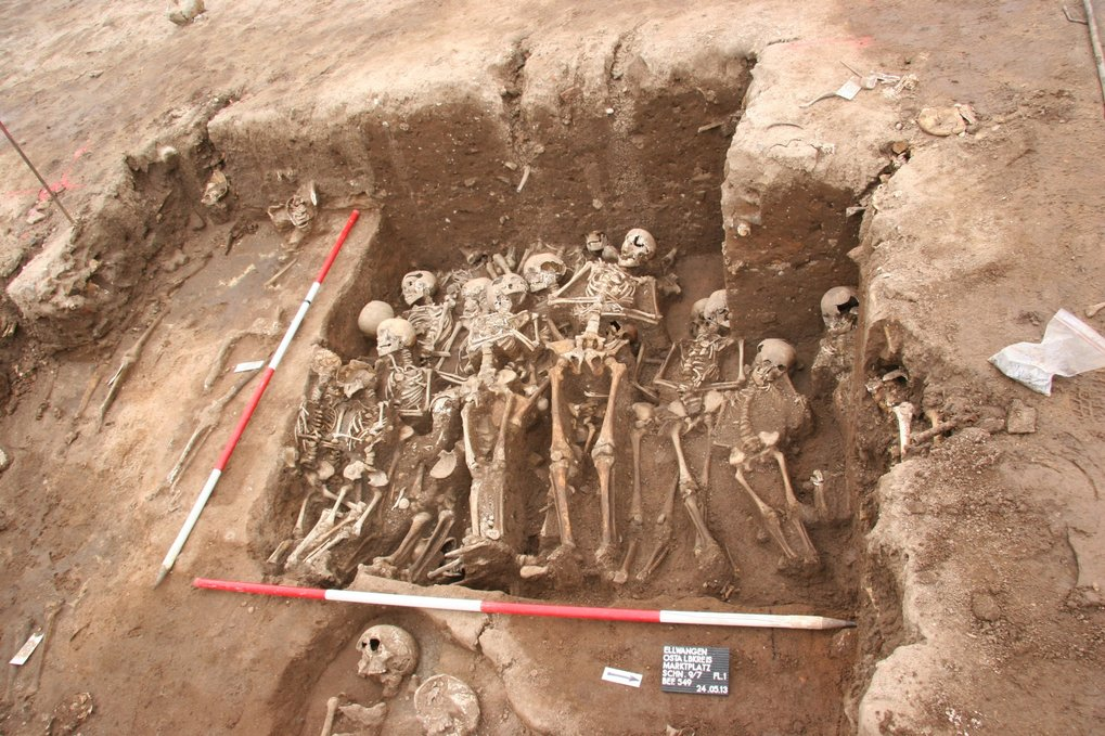 Mass grave in Ellwangen, Southern Germany. Source of one of the bacterial strains whose genome was reconstructed in the present study.
