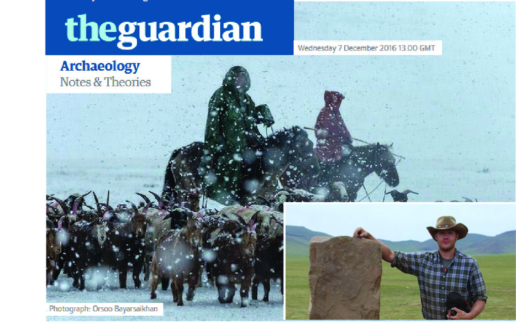 One of our key research themes is exploring the ways in which biological and cultural processes interact over long-term historic and prehistoric timescales. In a piece published Dec 7 in The Guardian, incoming postdoctoral fellow William Taylor highlights recent archaeological research on climate and ancient nomadic life in Mongolia, discussing implications for the future in the context of anthropogenic climate change.