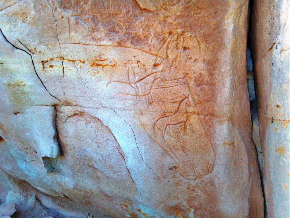 20<sup>th</sup> century Navajo rock art carving, northwestern Arizona