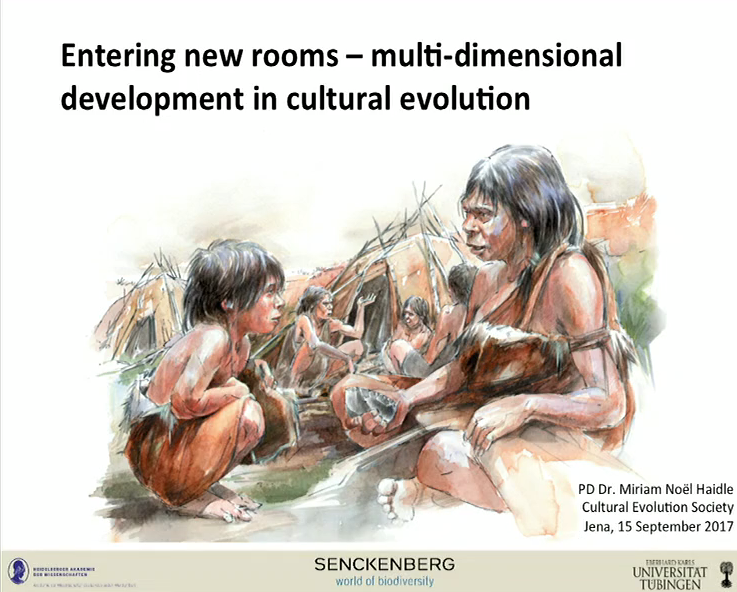 "Miriam Haidle presenting her keynote ""Entering new rooms - multidimensional development in cultural evolution"" at the CESC 2017"