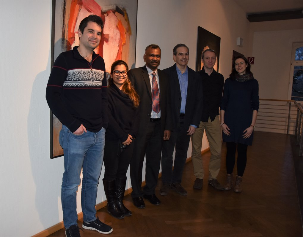 From left to right: Dr. Patrick Roberts, Ayushi Nayak, Mr. Rajachandran Madhan, Prof. Michael Petraglia, Dr. Paul Heggarty and Dr. des. Beate Kerpen.