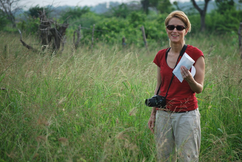 Nicole Boivin in the field in Sri Lanka.