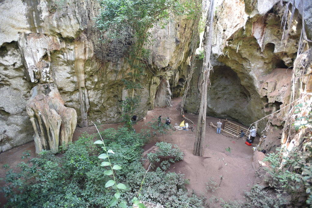 Archaeological excavations in Panga ya Saidi cave.