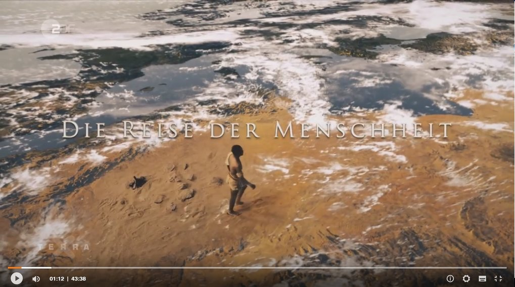 Die Reise der Menschheit (The Journey of Humanity) TV documentary (3 episodes) features Russell Gray and Johannes Krause. Shown by Arte, April 21, 2018 and ZDF, April 29. (available until April 29, 2028)