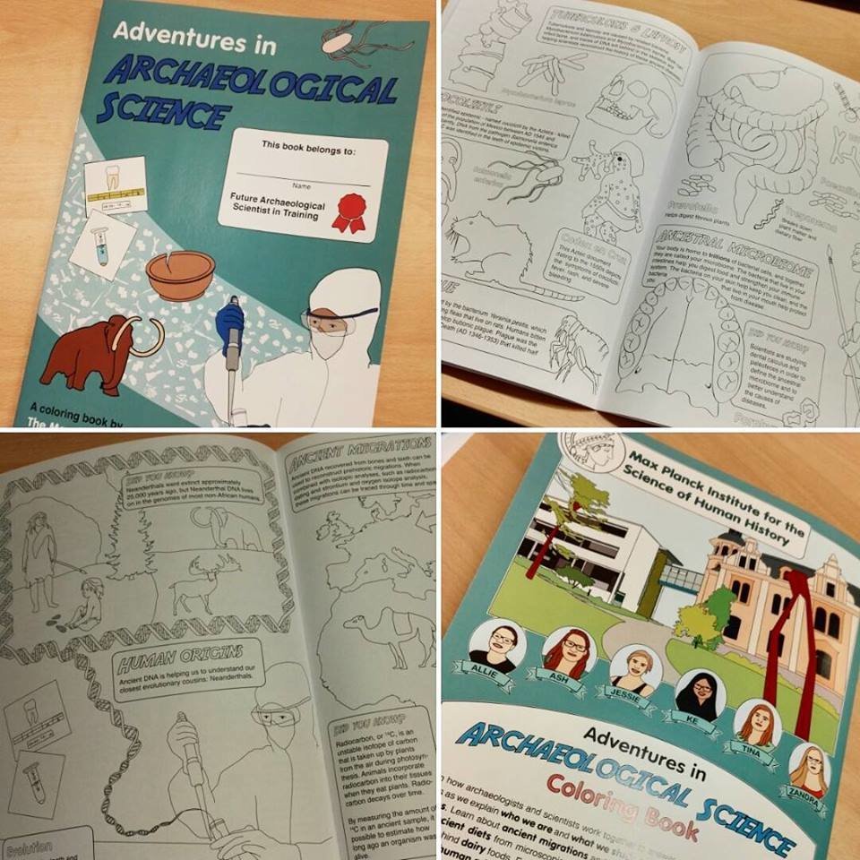 The MPI-SHH Adventures in Archaeology coloring book, debuted at the Long Night of Sciences, is now available for download in three languages - with more on the way!EnglishGerman/DeutschSpanish/Español