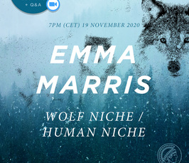 Wolf Niche/Human Niche - Online Lecture and Q&A with Emma Marris
